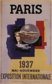 Vintage French poster - Paris International Exhibition (1937)